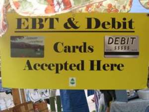 EBT cards accepted at many farmers' markets