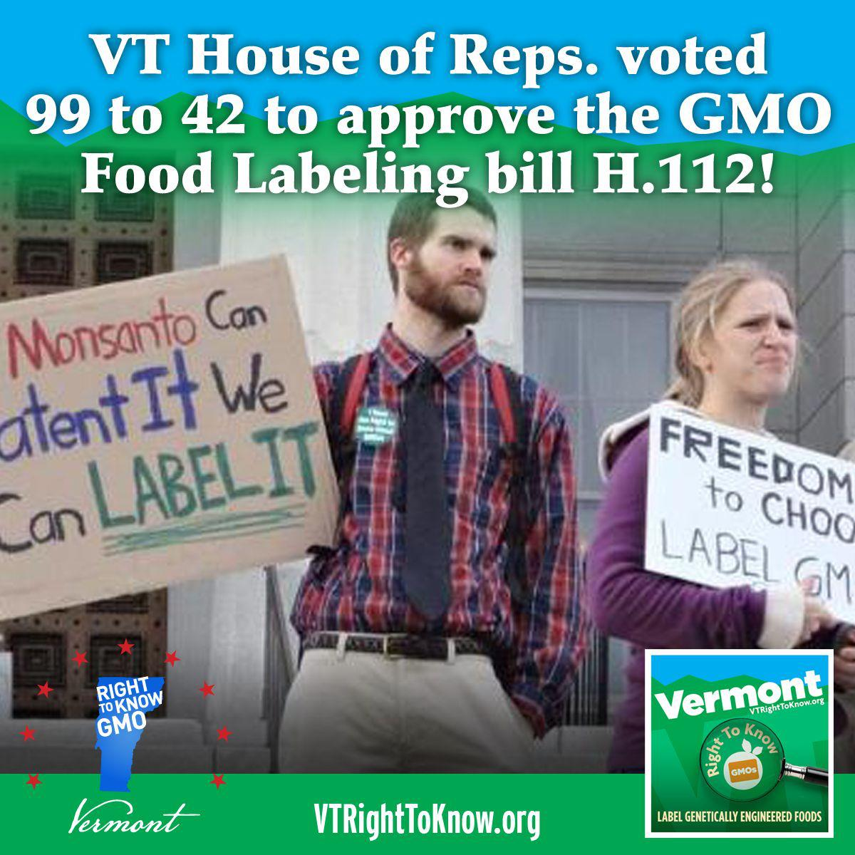 House approves GMO labeling bill!