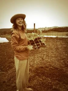 Sarah at Middlebury College Organic Farm  (c) Middlebury College (2013)