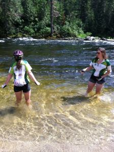 Co-Cyclers Cooling off in Idaho's Clearwater River--July 2013