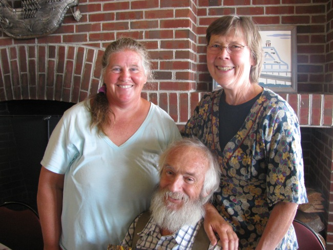 Enid (left) with Anne and Jack Lazor