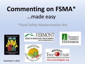 FSMA webinar slide