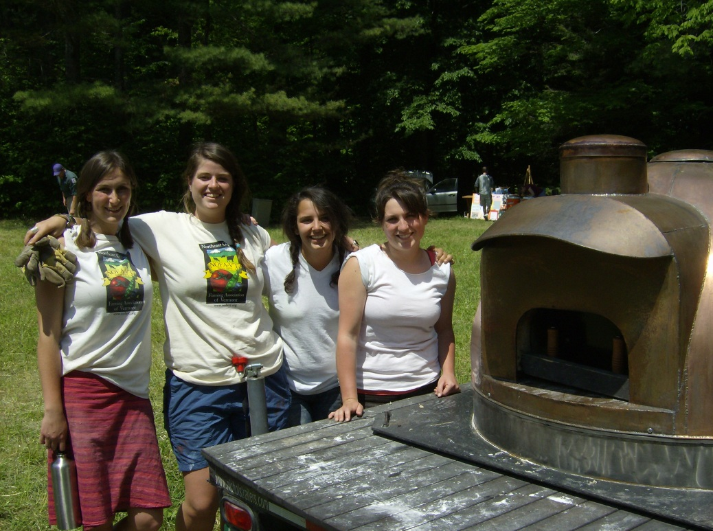 NOFA interns staff our mobile oven at event throughout the state.