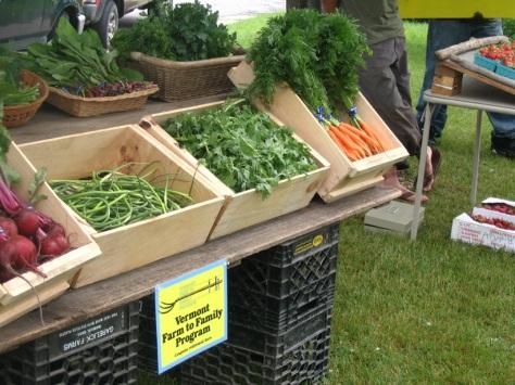 Farmers market display