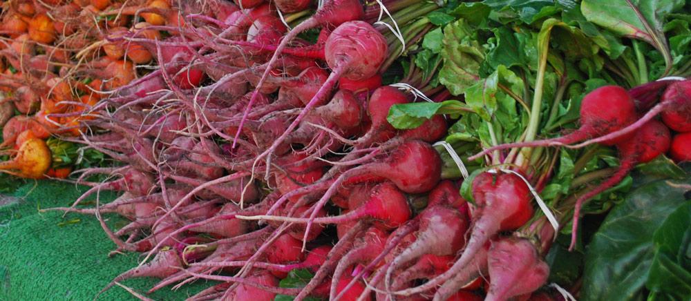 Beets at market