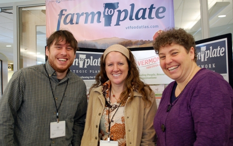 Vermont Sustainable Jobs Fund staff smile for the camera during a break in the conference schedule.
