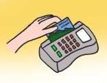 3. Let the person running the machine know how much 3SquaresVT you'd like to spend and swipe your EBT card.