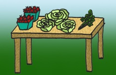 5. Use your Crop Cash to buy fresh fruits, vegetables, and herbs.